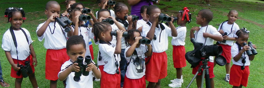 BJ Preparatory School Students and Teachers birding at the Botanic Gardens copy