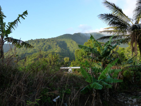 Radar Survey on Morne Angles in Dominica. (photo by Adam Brown)