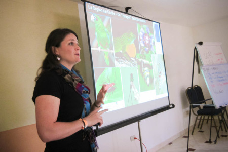 CBT Coordinator Holly Robertson discussed the importance of birdwatching tourism for the region. (Photo by Beny Wilson)