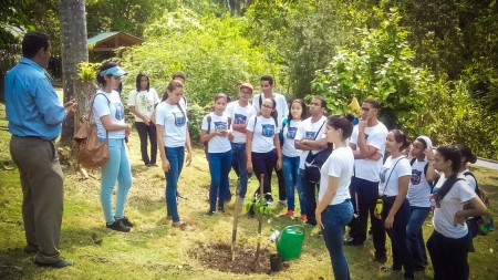 Tree-planting was part of the program for Grupo Acción Ecológica in the Dominican Republic.