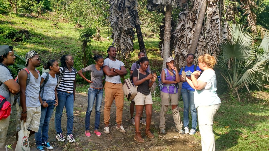 Paula Grief, bander-in-charge at Oak Hammock Marsh (OHM) Interpretive Centre, giving a training talk to student. OHM also collaborates on BIrdsCaribbean's West Indian Whistling-Duck and Wetlands Conservation Project.