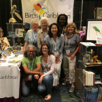 Our flock gathers at the BirdsCaribbean booth at the NOAC.