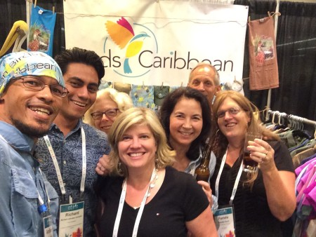 Group gathered for Happy Hour at our booth: Leno Davis, Richard Johnston Gonzalez, Ann Sutton, Jennifer Wheeler, Lisa Sorenson, Chris Rimmer, and Pam Hunt