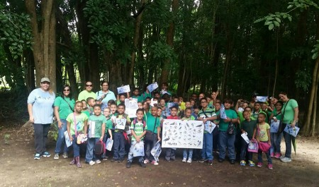 Students from the 1st, 2nd and 3rd grade of the Luciano Rios Elementary School visited the Pterocarpus Forest in Palmas del Mar of Humacao, PR to learn about nature, migratory birds and to raise awareness of the importance of habitat conservation. (Photo by Janisse Rivera)