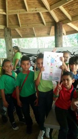 Students from the Luciano Rios Elementary School were being motivated to take action to protect birds with the Chart Your Bird Conservation Growth — PLEDGE TO CONSERVE BIRDS as part of IMBD 2016 in the Pterocarpus Forest in Palmas del Mar of Humacao, Puerto Rico, coordinated by Ingrid Flores. (Photo by Janisse Rivera)