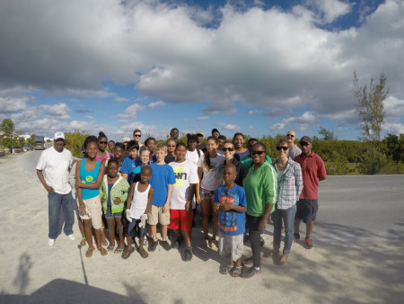 CWC surveyors at Wheeland Pond, Turks and Caicos Islands. (photo by Eric Salamanca)