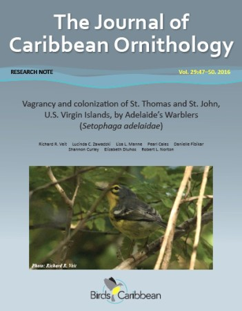 The Journal of Caribbean Ornithology (JCO) is a free, peer-reviewed journal produced by BirdsCaribbean.