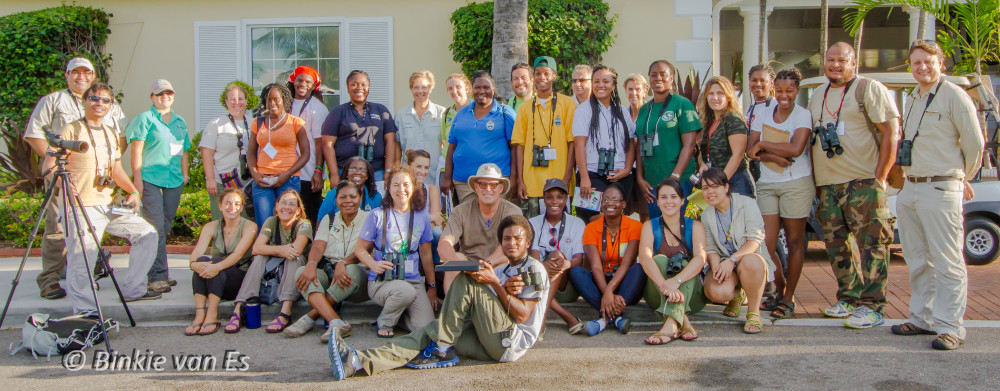 28 participants from 20 different countries/islands participated in the BIrdSleuth Caribbean International Training Workshop, November 2014, Nassau, Bahamas.