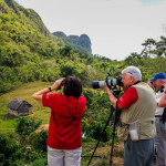 Enjoying birds and photography in Viñales Valley, Cuba (photo by Lora Leschner, BirdsCaribbean March 2017 Bird Tour).