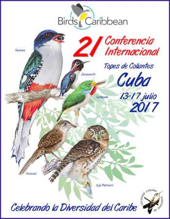 Program cover for BirdsCaribbean's 21st International Conference in Cuba. (design by Rolando Ata).