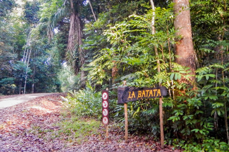La Batata trail sign.
