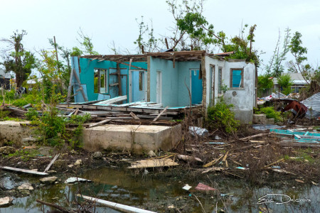 Complete destruction of a home in Barbuda (Photo by Eric Delcroix)