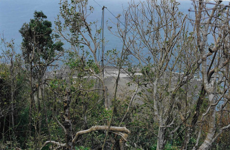 After Hurricane Georges in 1998, the lack of vegetation revealed a sight never before seen from my house- the airport down below. (Photo by Mandy McGehee)