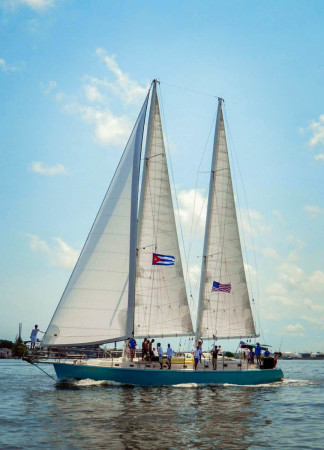 """Our days will be filled with much adventure aboard the 75ft schooner """"Dream Catcher""""."""