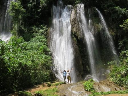 Topes Waterfalls-Lisa and Jen